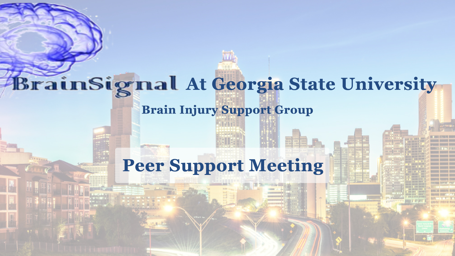 BrainSignal's August 8th Peer Support Meeting
